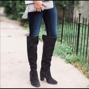 Vince Camuto Melaya Over The Knee Charcoal Boot